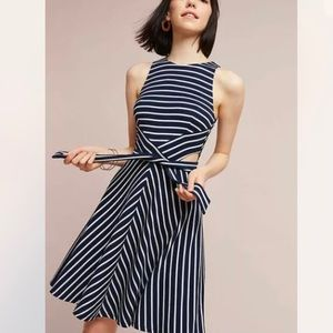 Hutch Anthropologie Kingsley Striped Cut Out Dress